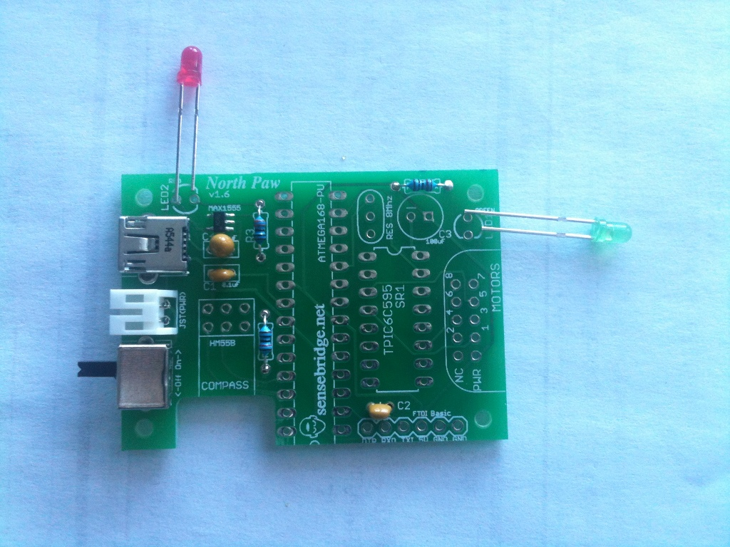 Sensebridge Making The Invisible Visible Step 1 Bending Tutorials Archives Circuit Bent There Are Two Leds In Kit Red And Green Polarized Orientation Matters If You Feel Up Led Head Is A Flat Side Fits
